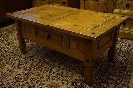 solid wood rustic pine coffee table