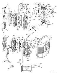 johnson carburetor & intake manifold parts for 1999 90hp bj90pleeb 9.9 Johnson Outboard Parts Diagram 90 Hp Johnson Outboard Wiring Diagram #21