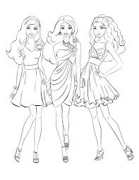 Barbie Coloring Pages Fashion Style Coloringstar