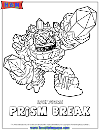 Small Picture Skylanders Giants Lightcore Prism Break Coloring Page H M