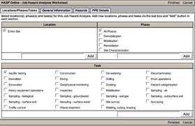 Job Hazard Analysis Worksheet Hasp Online Tour