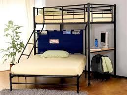 image of metal queen loft bed