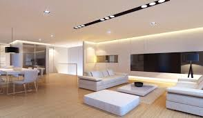 Interior design lighting ideas Dining Here Is Bright And Simple Modern Living Room That Uses Number Of Simple Recessed Home Stratosphere 40 Bright Living Room Lighting Ideas