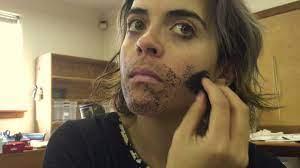 Apply fake facial hair