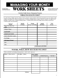 Manage Money Spreadsheet Managing Your Money Worksheets Budgeting Worksheets