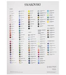 Swarovski 1088 Pointed Back Chaton Color Board Harman