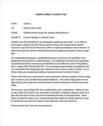 Examples Of Memos To Staff Employee Memo Template 10 Free Sample Example Format