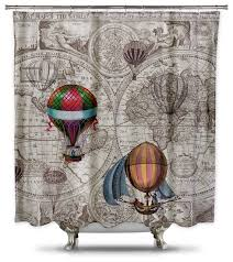 hot air balloon steampunk shower curtain by catherine holcombe standard size
