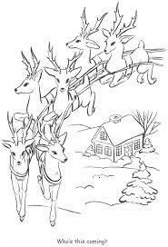 Santa S Reindeer Coloring Pages Santa