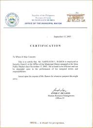 Certificate Of Employment Sample With Compensation Copy
