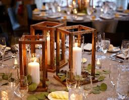 wood lantern centerpieces