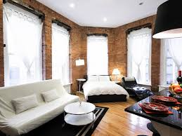 New York City Bedroom Furniture Bedroom Awesome Brown White Wood Glass Cool Design Apartment