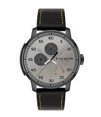 coachcoach bleecker black leather watch