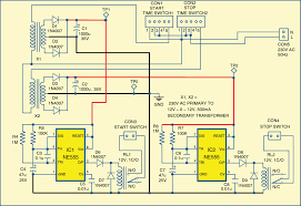electronics projects programmable on and off controller for 3 2 circuit diagram of the programmable on and off controller for a 3 phase electric motor