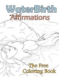 Birth Affirmation Coloring Page Free Printable