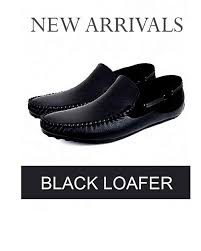 black leather loafers for men