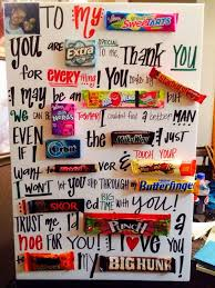 make a candy bar letter for your boyfriend it s not only cute but also delicious