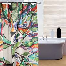 colorful shower curtains. Modren Curtains Amazoncom ONEONEY Colorful Tree Of Life Gorgeous Like Feather Bathroom  Shower Curtain  Custom Polyester Fabric Kids Decorative Ideas 60 For Curtains L