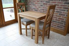 solid oak kitchen table sets with 2 chairs