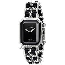 chanel watch. chanel premiere black dial ladies watch h0451 k