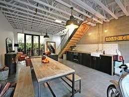 Industrial Kitchen Kitchen Dark Industrial Kitchen With Arched Window Also Brick