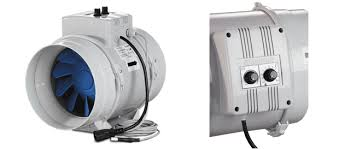 blauberg turbo 200 round duct fans gi smooth speed controller an electronic thermostat and a temperature sensor integrated into the air duct the fan is supplied a pre wired power