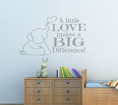 a little love makes a big difference baby elephant wall decal