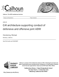 C4i Architecture Supporting Conduct Of Defensive And