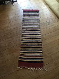 unknown designer vintage cotton rag rug swedish handmade hallway runner