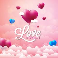 Love Is In The Air Valentines Day Illustration 335091 Vector Art at Vecteezy