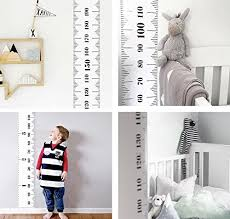 Baby Height Growth Chart Kids Room Wall Decor Wood Frame