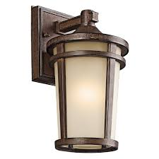Rustic Outdoor Wall Lighting Youll Love Wayfair - Exterior bulkhead lights