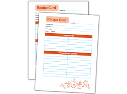 Where To Buy Recipe Cards In Stores Recipe Card Template Use These Cards To Preserve Your