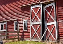 red barn doors. Image Of Red Barn Doors From IStockphoto