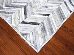 herringbone cowhide rug cowhide patchwork rug grey white herringbone cow skin hide fur hides skins leather