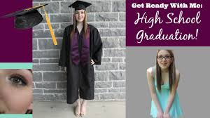 grwm high graduation makeup hair outfit