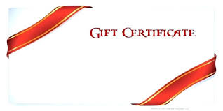 Make Your Own Gift Certificate Vouchers Template Free Word