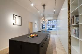 Küche Mittelblock Räuchereiche schwarz lackiert