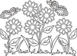 Small Picture Flowers And Butterflies Coloring Page GetColoringPagescom