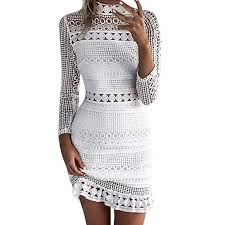 MRULIC <b>Spring Summer</b> Womens Sexy <b>Lace Hollow</b> Bodycon ...