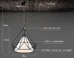 diamond style wire cage pendant light droplight dining table decoration coffee