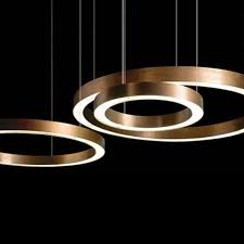 modern copper ring led pendant lighting 10758