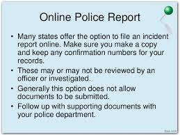Police Report Vs Incident Report