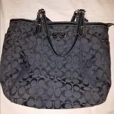 COACH Medium Monogram Canvas Shoulder Bag •