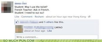 bathroom puns. Ask Bathroom Facebook French Homophone Oui Question Wee - 5928034048 Puns