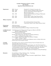Security Guard Resume Objective Section Of What For Accounting S