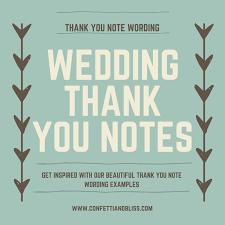 Wedding Thank You Samples Wedding Thank You Note Wording Generous Wedding Gifts
