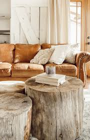 how to make a tree stump coffee table