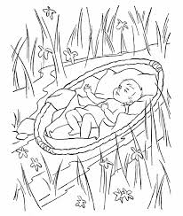 Baby Moses Coloring Page Unique Free Printable Moses Coloring Pages