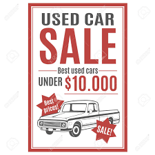 Car For Sale Template Vector Template For Used Car Sale Advertisement With Pickup Illustration